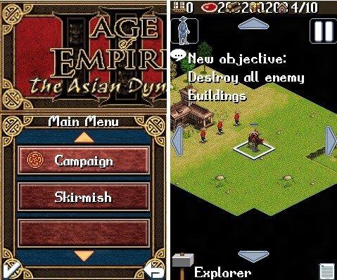 asha phones age of empires games
