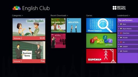 english club app for students