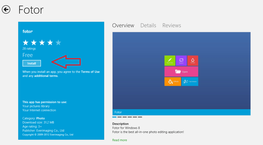 fotor app install on windows 8