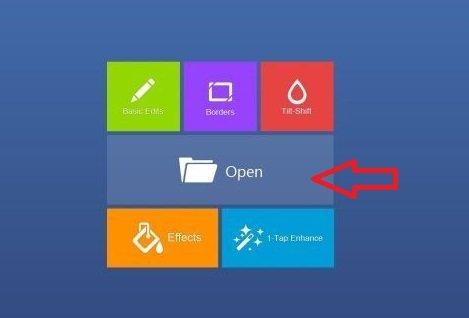 fotor app main screen on windows 8