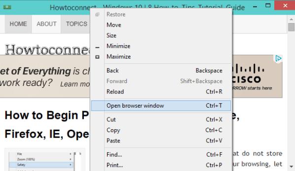 Windows 10 - How to Create Site Shortcut Pin Using Chrome