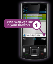 browse 2go service on mobile browser