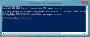 create system backup image with  powershell