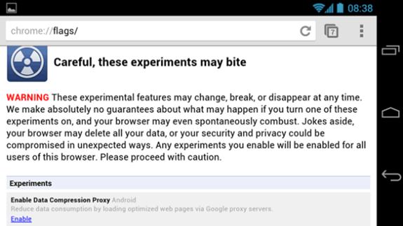 enable chrome proxy