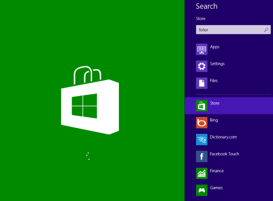 fotor app search on windows 8 store