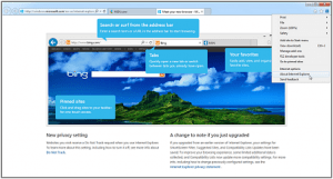 internet explorer 11 home screen