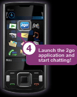 launch 2go mobile app