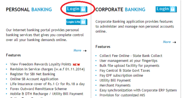 activate Internet Banking in SBI