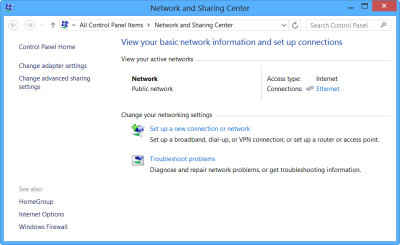 network and sharing center image