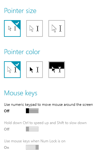 how to change mouse keys windows 10