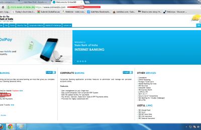 sbi online homepage