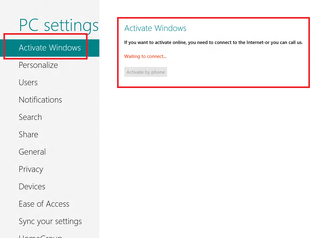 windows 8 activation process