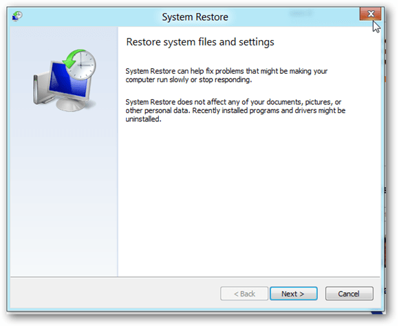 windows 8 restoring process image