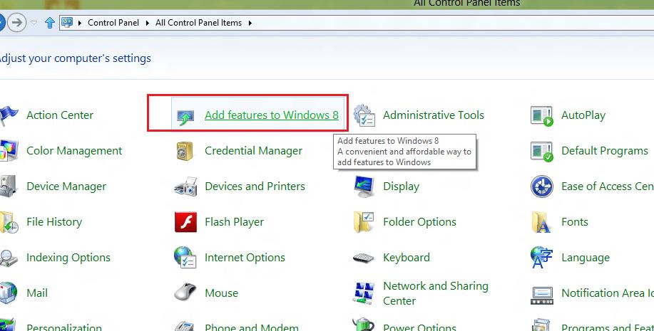 windows 8 add new feature