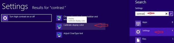 How to set brightness and contrast in Windows 8 Desktop and Laptop