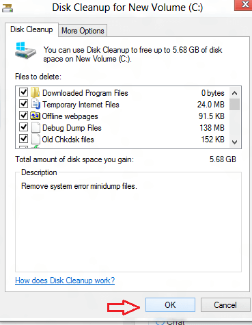 windows 8 erase temporay files