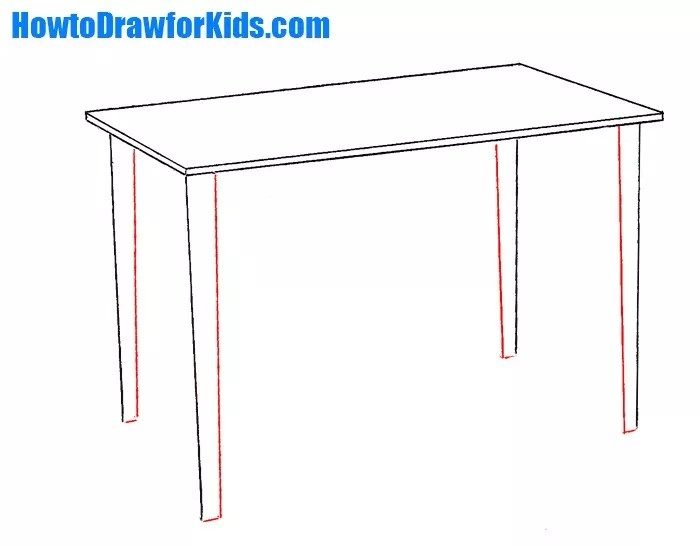 How To Draw A Table For Kids Howtodrawforkids