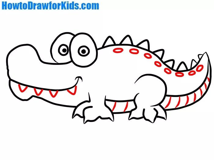 How to Draw Crocodile for Kids How to Draw for Kids