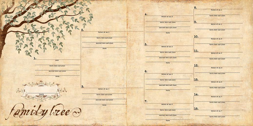 Pedigree Family Tree Template Sample Document Resumes