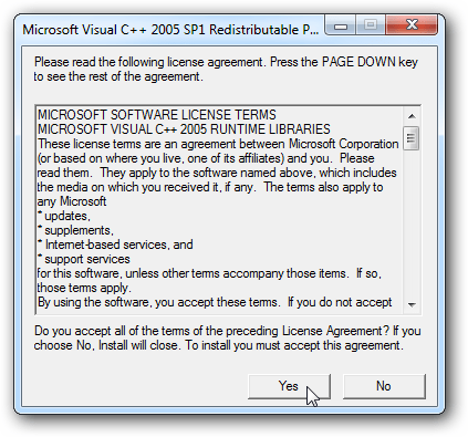 Visual Studio 2005 Redistributable