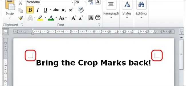 How do You get the \u201cL\u201d Shaped Formatting Icons Back in Microsoft Word? - microsoft word