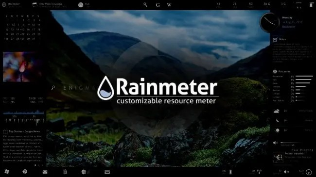 3d Weather Live Wallpaper How To Use Rainmeter To Customize Your Windows Desktop