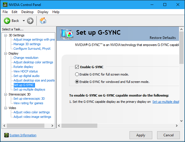 How To Enable Optimize And Tweak Nvidia G Sync