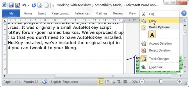 How Do You Copy Deleted Text in Microsoft Word?