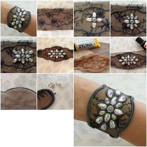 How To Make Lace And Beads Bracelet Step By Step Diy