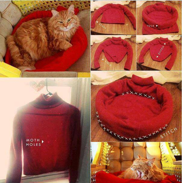How To Make Your Own Pet Bed With Recycled Cloth Step By