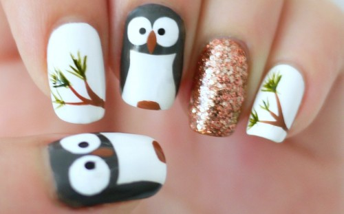 How To Make Cool Owl Nail Art Manicure Step By Step Diy