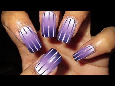How To Make Reciprocal Gradient Nail Art Step By Step Diy