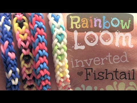 How To Make A Rainbow Loom Inverted Fishtail Bracelet Step