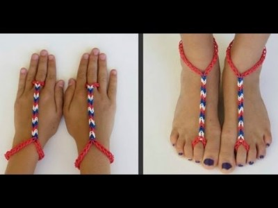 how to make advanced Rainbow Loom Barefoot Sandals DIY tutorial step ...