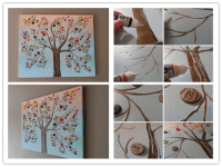 DIY Button Tree Canvas Wall Art Tutorial | How To Instructions