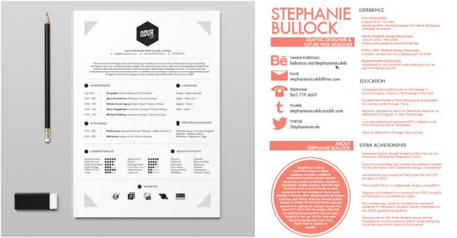 27 Beautiful Résumé Designs You\u0027ll Want To Use How To Instructions