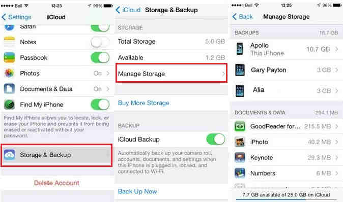 Tips to delete old iPhone backups from iCloud How to