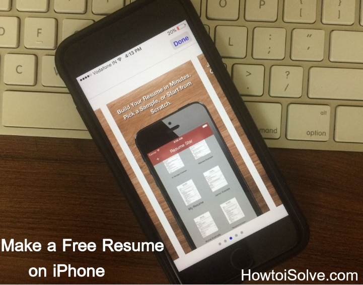 How to Make a Resume on iPhone/iPad Build Attractive Resume in Minutes
