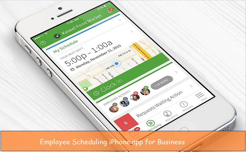 Wheniwork Employee Scheduling iPhone app for Business