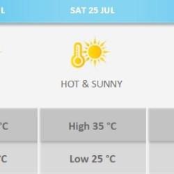 high temperatures malta