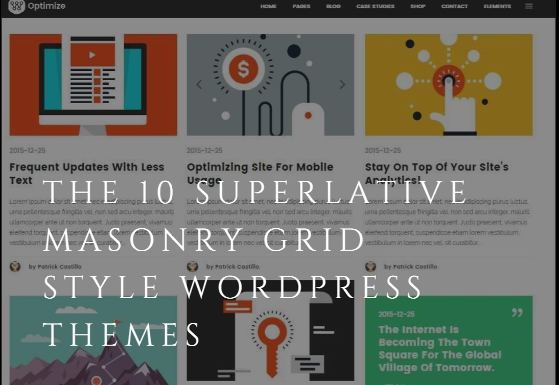 Masonry Grid Style WordPress Themes