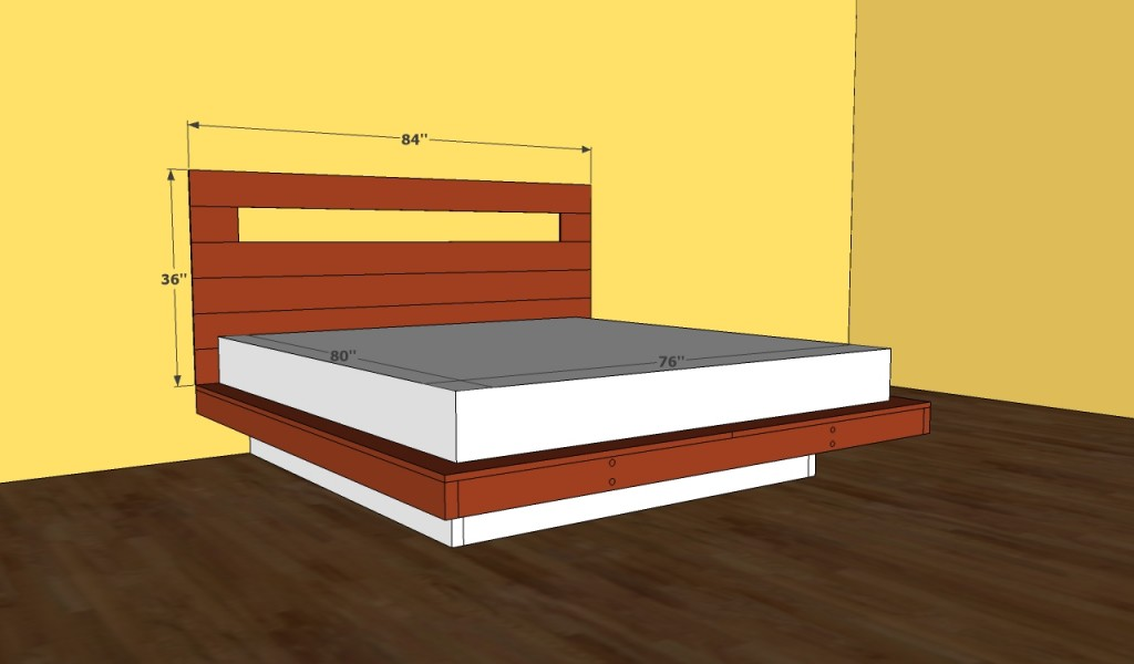 Platform Bed Frame Plans Howtospecialist How To Build