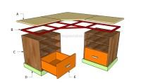 Woodwork Plans Desk Building PDF Plans