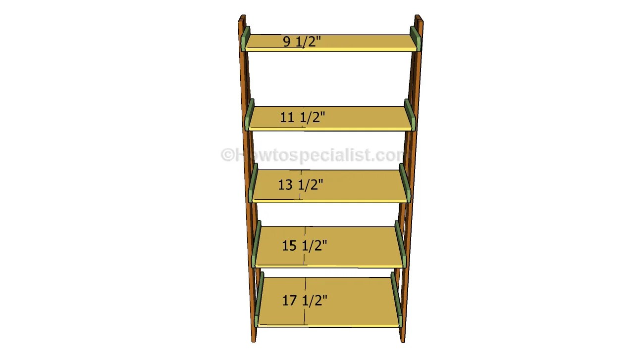 Ladder Shelves Plans Howtospecialist How To Build