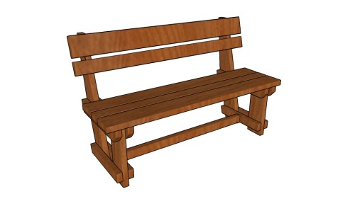Garden Bench Plans Howtospecialist How To Build Step