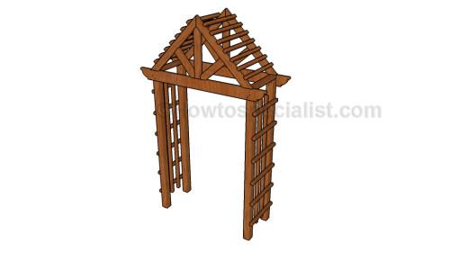 Garden arbor designs HowToSpecialist - How to Build, Step by - garden arbor plans designs