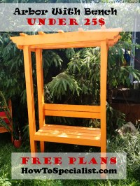 How to build a garden arbor with bench | HowToSpecialist ...
