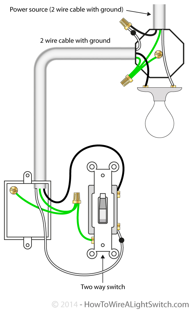 wiring a one way double light switch