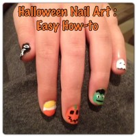 Halloween Nail Art: A simple How-to for 5 Fun Designs ...