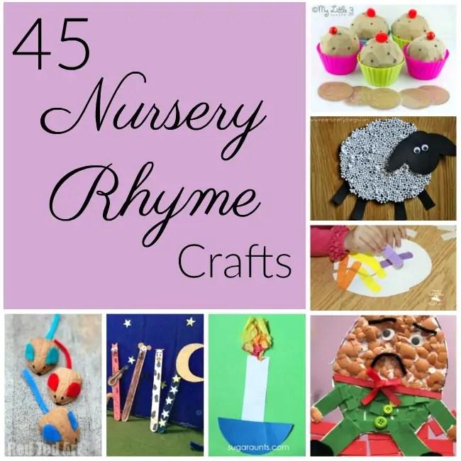 45 Nursery Rhyme Crafts - How Wee Learn